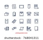 line icons of print design... | Shutterstock .eps vector #768041311