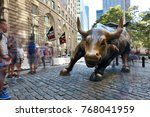 new york city  usa   aug. 23  ...   Shutterstock . vector #768041959