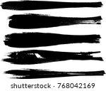 grunge paint stripe . vector... | Shutterstock .eps vector #768042169