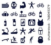 set of 25 fitness filled icons