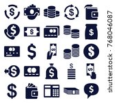 set of 25 cash filled icons...   Shutterstock .eps vector #768046087