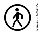 no walking sign. prohibited... | Shutterstock .eps vector #768046354