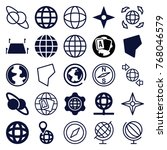 set of 25 geography filled and... | Shutterstock .eps vector #768046579