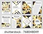 abstract vector layout... | Shutterstock .eps vector #768048049