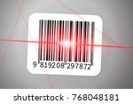 realistic barcode sticker with... | Shutterstock . vector #768048181