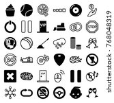 set of 36 round filled and... | Shutterstock .eps vector #768048319