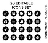 package icons. set of 20... | Shutterstock .eps vector #768050341