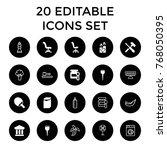nobody icons. set of 20... | Shutterstock .eps vector #768050395