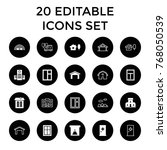 exterior icons. set of 20...   Shutterstock .eps vector #768050539