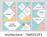 abstract vector layout... | Shutterstock .eps vector #768051391