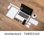 corporate and web identity... | Shutterstock . vector #768052165