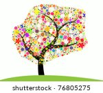 colorful tree   Shutterstock . vector #76805275