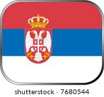 serbia flag icon with official... | Shutterstock .eps vector #7680544