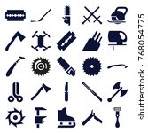 set of 25 blade filled icons... | Shutterstock .eps vector #768054775