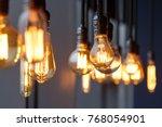 vintage tungsten filament... | Shutterstock . vector #768054901
