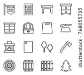 thin line icon set   shop... | Shutterstock .eps vector #768055735