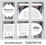 abstract vector layout... | Shutterstock .eps vector #768058744