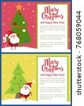 merry christmas and happy new... | Shutterstock .eps vector #768059044
