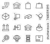 thin line icon set   gift ... | Shutterstock .eps vector #768059395