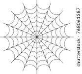 spider web icon design vector... | Shutterstock .eps vector #768061387