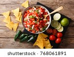 mexican appetizer pico de gallo ... | Shutterstock . vector #768061891
