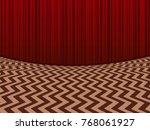 red room. horisontal background ... | Shutterstock .eps vector #768061927