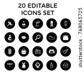 beauty icons. set of 20... | Shutterstock .eps vector #768065725