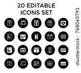 month icons. set of 20 editable ... | Shutterstock .eps vector #768065791