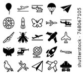 set of 25 fly filled and...   Shutterstock .eps vector #768067105