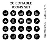 history icons. set of 20...   Shutterstock .eps vector #768067171