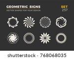 set of eight minimalistic