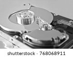 hard disk drive inside. data... | Shutterstock . vector #768068911