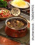 persian food khoresh ghormeh... | Shutterstock . vector #768069931