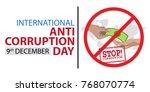 international anti corruption... | Shutterstock .eps vector #768070774