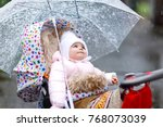 cute little beautiful baby girl ...   Shutterstock . vector #768073039