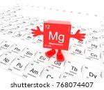 magnesium element symbol  ... | Shutterstock . vector #768074407
