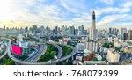 bangkok city panorama and...   Shutterstock . vector #768079399