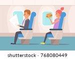 people the plane.  vector.... | Shutterstock .eps vector #768080449