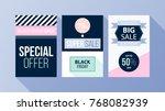 three vertical black friday... | Shutterstock .eps vector #768082939