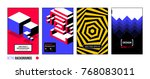 set of four abstract... | Shutterstock .eps vector #768083011