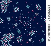 seamless floral pattern. vector ... | Shutterstock .eps vector #768083215