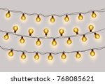christmas light background... | Shutterstock .eps vector #768085621