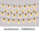 christmas light background... | Shutterstock .eps vector #768085621