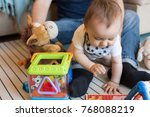 modern father playing with... | Shutterstock . vector #768088219