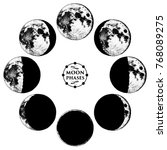 moon phases planets in solar... | Shutterstock .eps vector #768089275