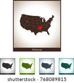 map of arkansas | Shutterstock .eps vector #768089815