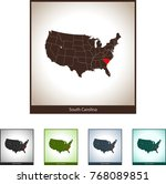 map of south carolina | Shutterstock .eps vector #768089851