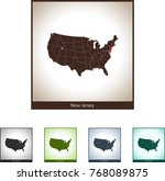 map of new jersey | Shutterstock .eps vector #768089875