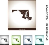 map of maryland   Shutterstock .eps vector #768089905