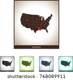 map of louisiana | Shutterstock .eps vector #768089911